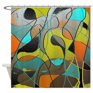 Abstract Art Shower Curtains
