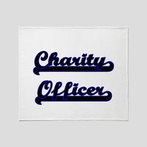 Charity Officer Classic Job Design Throw Blanket