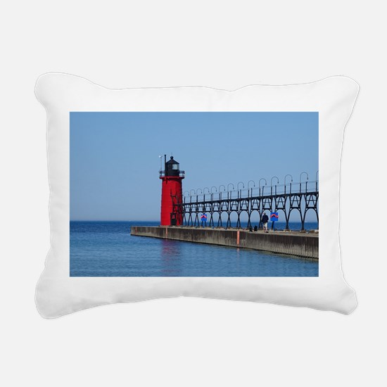 South Haven Lighthouse Rectangular Canvas Pillow