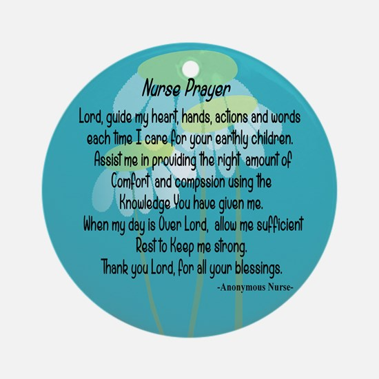 Nurse Prayer Ornament (Round)