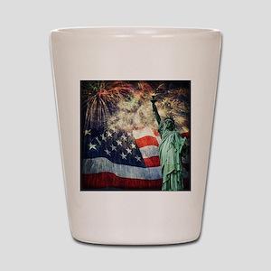 Statue of Liberty &  Fireworks Shot Glass