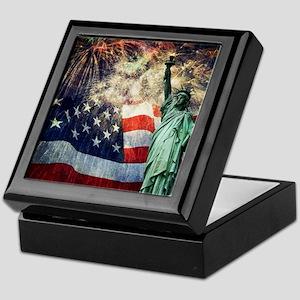 Statue of Liberty &  Fireworks Keepsake Box