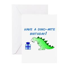 DINO-MITE BIRTHDAY! Greeting Cards (Pk of 10)