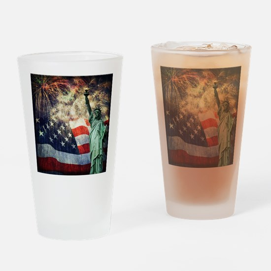 Statue of Liberty &  Fireworks Drinking Glass