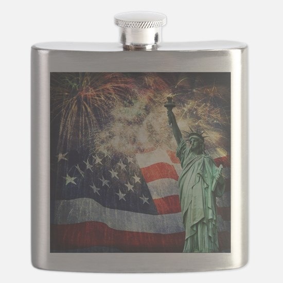 Statue of Liberty &  Fireworks Flask