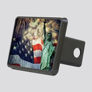 Statue of Liberty &  Firew Rectangular Hitch Cover