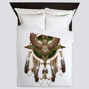 Barred Owl Mandala Queen Duvet