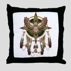Barred Owl Mandala Throw Pillow