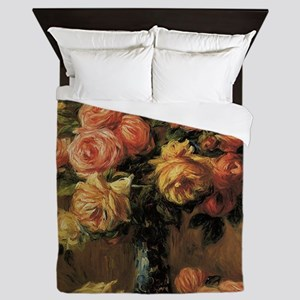 Roses in a Vase by Renoir Queen Duvet