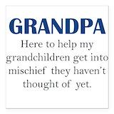Grandchildren Square Car Magnets