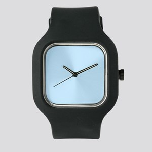 White and Light Blue Watch