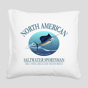 NASM sailfish Square Canvas Pillow