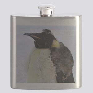 Molting Emperor Penguin Flask