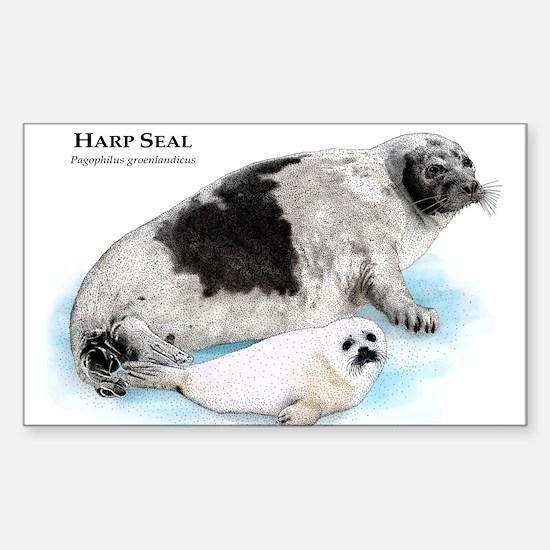 Harp Seal Sticker (Rectangle)