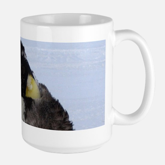 Molting Emperor Penguin Mugs