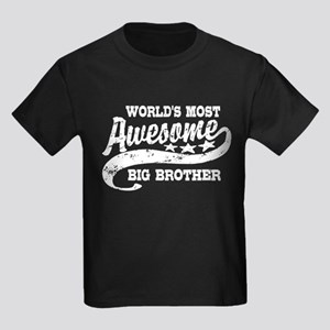 World's Most Awesome Big Brother Kids Dark T-Shirt