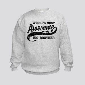 World's Most Awesome Big Brother Kids Sweatshirt