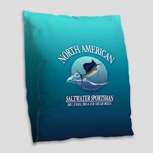 Nasm Sailfish Burlap Throw Pillow