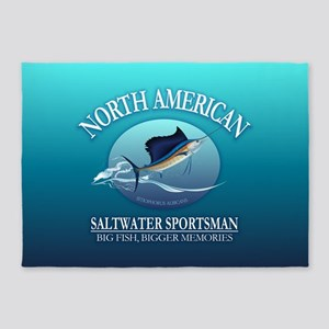 NASM sailfish 5'x7'Area Rug