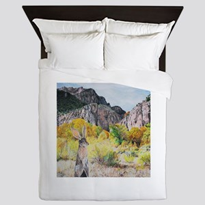 wild hare in Clear Creek Canyon Queen Duvet