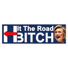 Hit The Road Bitch Bumper Sticker