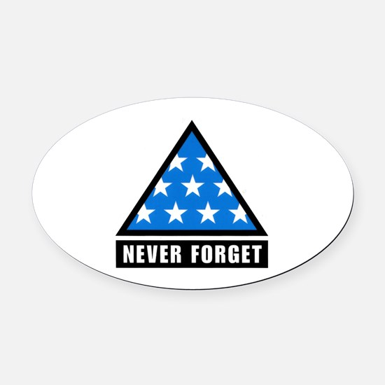 Never Foget Oval Car Magnet