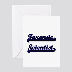 Forensic Scientist Classic Job Desi Greeting Cards