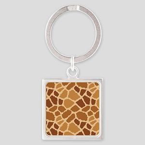 Giraffe Fur Square Keychain