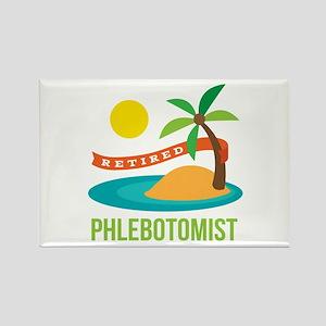 Retired Phlebotomist Rectangle Magnet