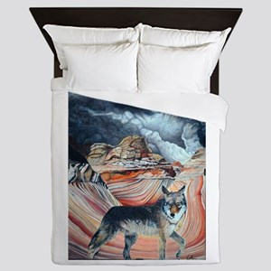 coyote at The Wave2 Queen Duvet