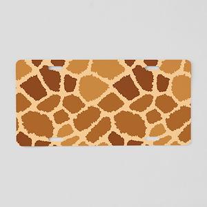 Giraffe Fur Aluminum License Plate