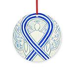 ALS Awareness Ribbon Angel Ornament (Round)