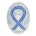 ALS Awareness Ribbon Angel Ornament (Oval)