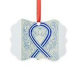 ALS Awareness Ribbon Angel Ornament