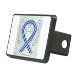 ALS Awareness Ribbon Angel Hitch Cover