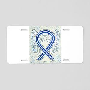 ALS Awareness Ribbon Angel Aluminum License Plate