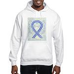 ALS Awareness Ribbon Angel Hoodie