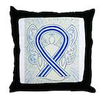 ALS Awareness Ribbon Angel Throw Pillow