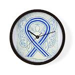 ALS Awareness Ribbon Angel Wall Clock