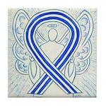 ALS Awareness Ribbon Angel Tile Coaster