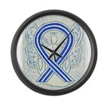 ALS Awareness Ribbon Angel Large Wall Clock