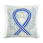 ALS Awareness Ribbon Angel Everyday Pillow