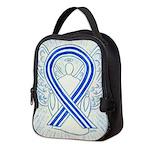 ALS Awareness Ribbon Angel Neoprene Lunch Bag
