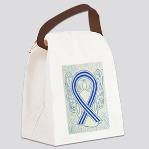 ALS Awareness Ribbon Angel Canvas Lunch Bag