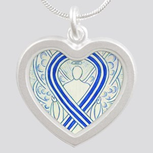ALS Awareness Ribbon Angel Necklaces