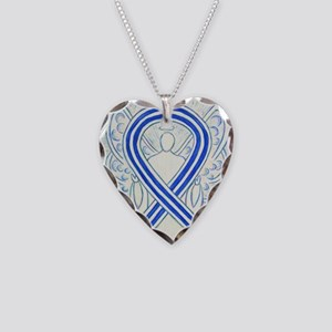 ALS Awareness Ribbon Angel Necklace