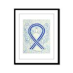 ALS Awareness Ribbon Angel Framed Panel Print