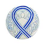 ALS Awareness Ribbon Angel Button