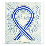 ALS Awareness Ribbon Angel Square Car Magnet 3