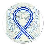 ALS Awareness Ribbon Angel Round Car Magnet
